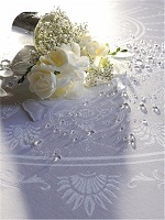 White Tablecloth and Napkins set that is a good choice